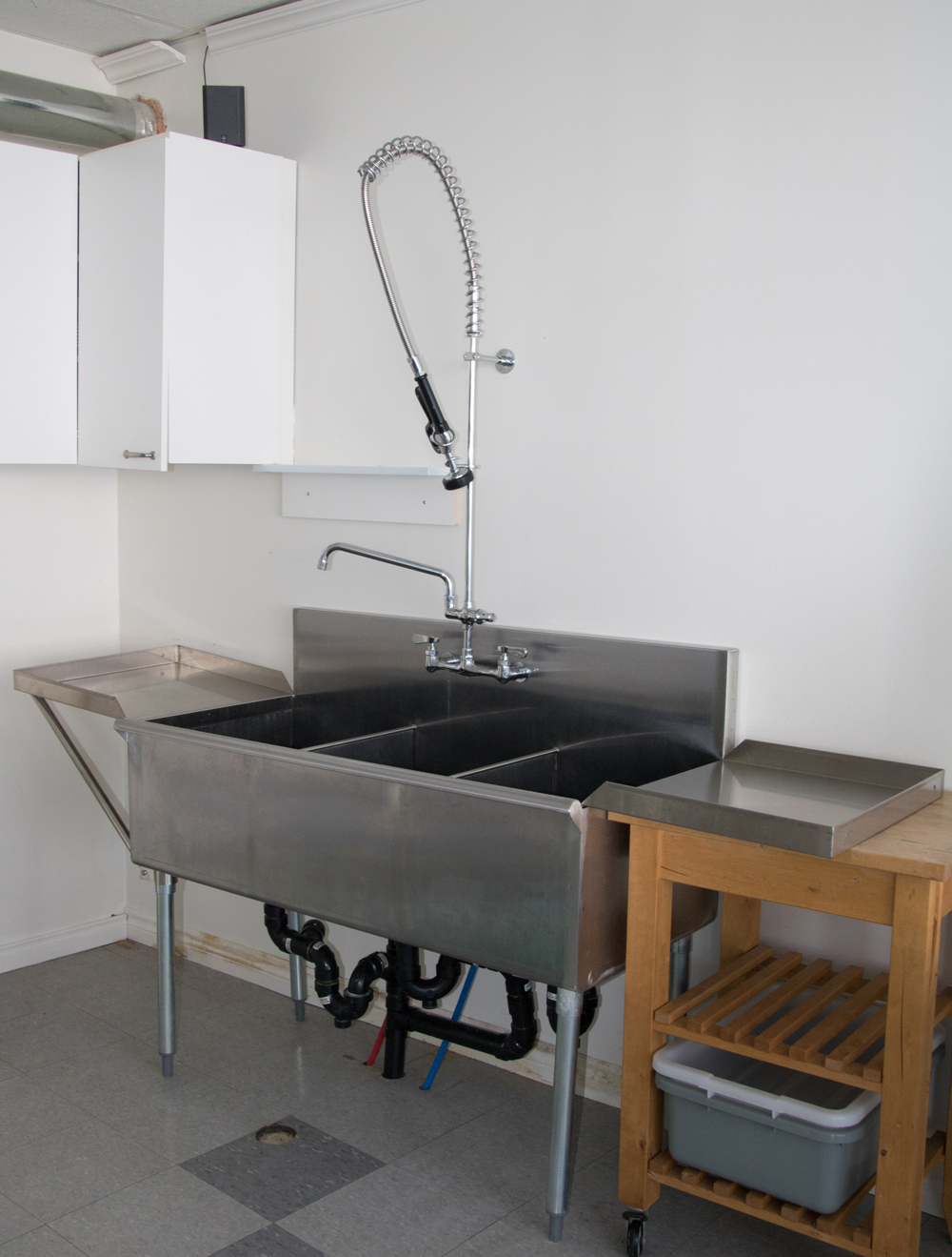 Lavabo Stainless 3 éviers
